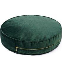 poduszka siedzisko welurowe duży drops zielony