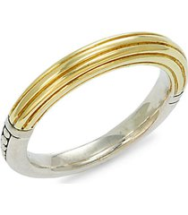 18k yellow gold & sterling silver ring