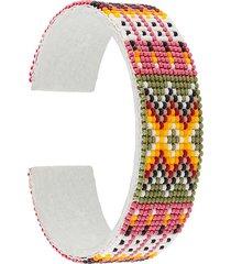 jessie western 15 row beaded bracelet - pink