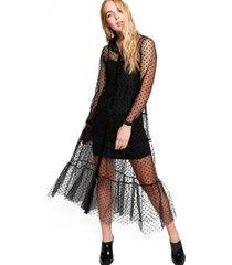 vestido kurt negro transparente eclipse