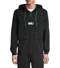 puma men's parquet anorak jacket - black - size m