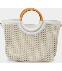 ruby woven tote - white