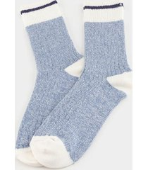 amber crew socks in light blue - light blue
