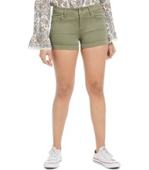 celebrity pink juniors' mid-rise cuffed denim shorts