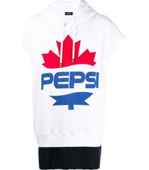 dsquared2 #d2xpepsi logo print short-sleeved hoodie - white