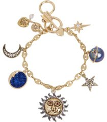 betsey johnson celestial mixed charm bracelet