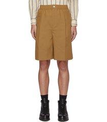 elastic waist pleated shorts