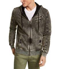 inc men's zip-front moto hoodie, created for macy's