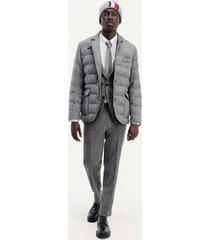 tommy hilfiger men's icon channeled blazer grey - 40
