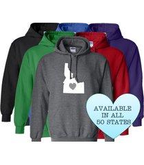 idaho hoodie sweatshirt love home heart unisex men women state