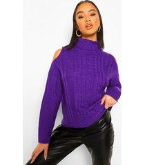 coltrui met uitgesneden schouders, purple