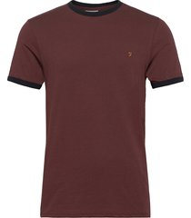 groves ringer t-shirt t-shirts short-sleeved röd farah