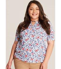 camiseta floral azul 14