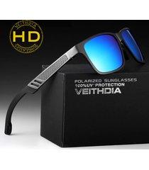 aluminum polarized men sunglasses mirror square