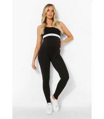zwangerschap naadloze lange leggings, black