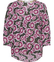 blouse long-sleeve blus långärmad rosa gerry weber edition