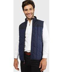 chaqueta rockford s/m vst-bicolor-spm20 azul - calce regular