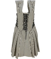 philosophy striped dress with strings