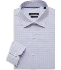 bugatchi men's regular-fit geometric dress shirt - sky - size 16