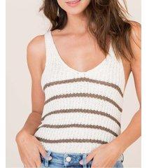 camiseta rayas tejidas