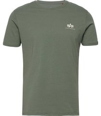 basic t small logo t-shirts short-sleeved grön alpha industries
