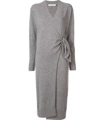 christopher esber wrap midi jumper dress - grey