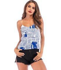 camiseta de verano sin mangas con camisola femenina de verano