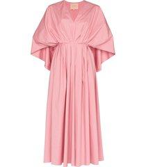 roksanda cape back midi dress - pink