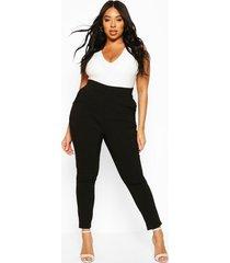 plus strakke super stretch broek, zwart