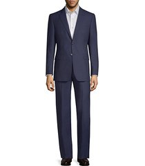 classic-fit striped wool suit