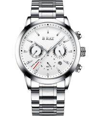 reloj b ray 9003 cronografo -  blanco