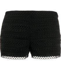 charo ruiz ibiza lace shorts - black