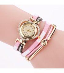 reloj rosa pluma dorada sasmon re- 29302