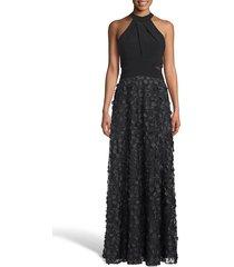 women's xscape 3d floral evening dress