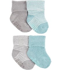 carter's baby boys and girls 4-pack chenille booties