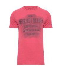 camiseta masculina imperfect beauty - vermelho
