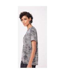 maxi t-shirt tie dye foil prata - pp