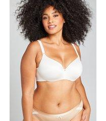 lane bryant women's invisible backsmoother lightly lined balconette bra 46ddd sugar