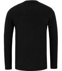 shirt met ronde hals van lacoste zwart