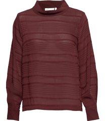 noelle blouse blus långärmad röd inwear