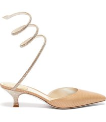 """""""cleo' lizard embossed satin strass coiled anklet"""