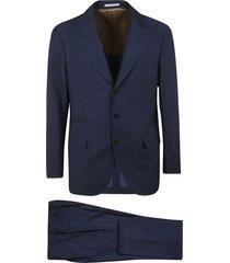 brunello cucinelli stripe textured suit