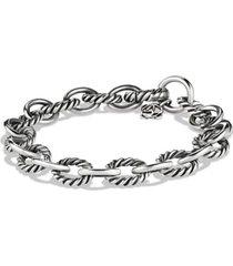david yurman oval link bracelet, size 7.5 in in silver at nordstrom