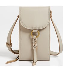 maurices womens taupe braided strap crossbody bag brown