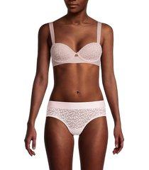 dkny women's lace underwire bra - pink - size 32 c