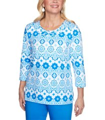 alfred dunner women's missy sea you there tile biadere top