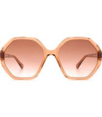 chloé chloé cc0004s orange sunglasses