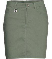 firm skort knälång kjol grön röhnisch