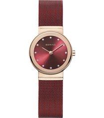 reloj classic rojo bering