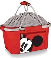 oniva by picnic time mickey mouse button eye metro basket collapsible cooler tote